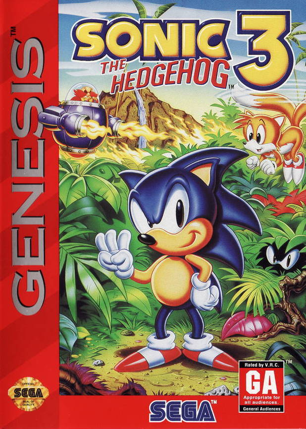 Sonic the Hedgehog 3 box art