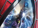 Jamie Foxx's villain Electro is seen in the eye of Spider-Man for the upcoming sequel.