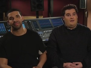 Drake and Bobby Moynihan in SNL promo