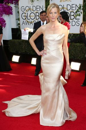 Anna Gunn 71st Annual Golden Globe Awards, Arrivals, Los Angeles, America - 12 Jan 2014