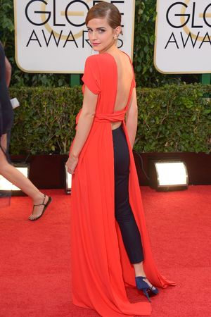 Emma Watson 71st Annual Golden Globe Awards, Arrivals, Los Angeles, America - 12 Jan 2014