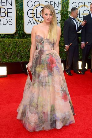 Kaley Cuoco 71st Annual Golden Globe Awards, Arrivals, Los Angeles, America - 12 Jan 2014