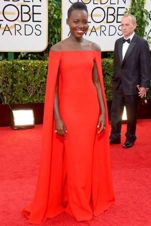 Lupita Nyong'o 71st Annual Golden Globe Awards, Arrivals, Los Angeles, America - 12 Jan 2014