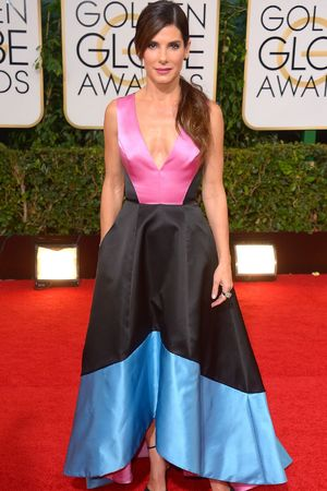 Sandra Bullock 71st Annual Golden Globe Awards, Arrivals, Los Angeles, America - 12 Jan 2014