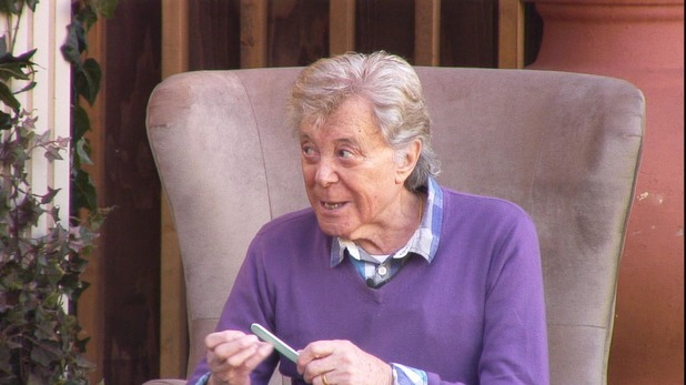 Lionel Blair in the Big Brother garden