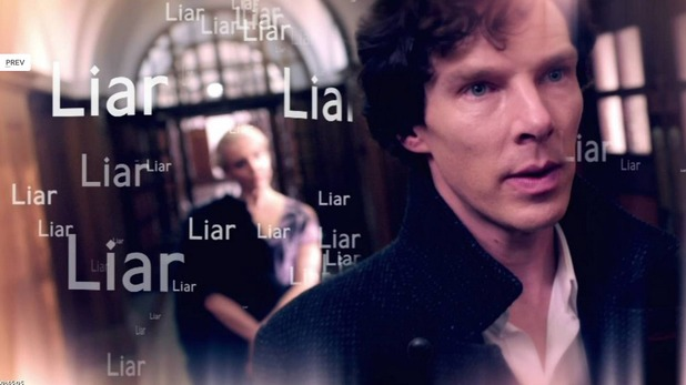 Amanda Abbington and Benedict Cumberbatch in Sherlock 'His Last Vow'