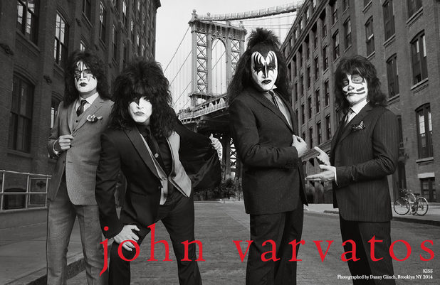 Kiss star in new John Varvatos SS14 campaign.