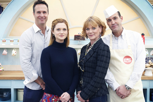 Michael Vaughan, Bonnie Wright, Samantha Bond and Johnny Vaughan