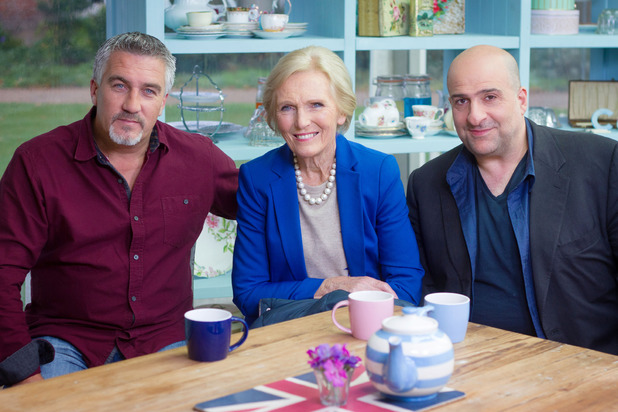 Paul Hollywood, Mary Berry and Omid Djalili
