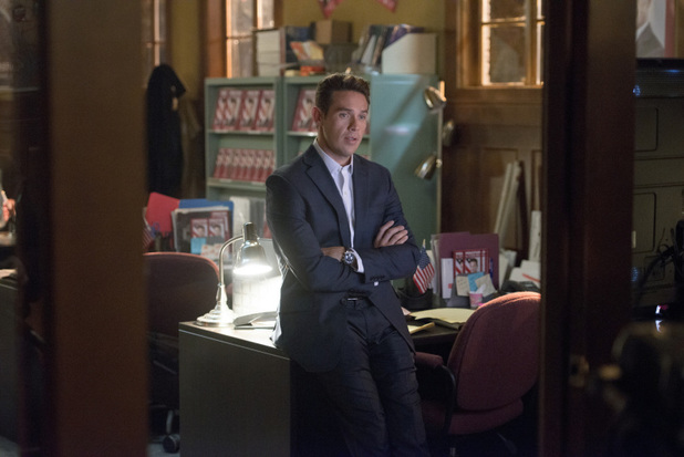 Kevin Alejandro as Sebastian Blood in 'Arrow' S02E10: 'Blast Radius'