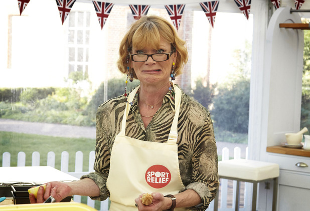 Samantha Bond on Sport Relief Bake Off