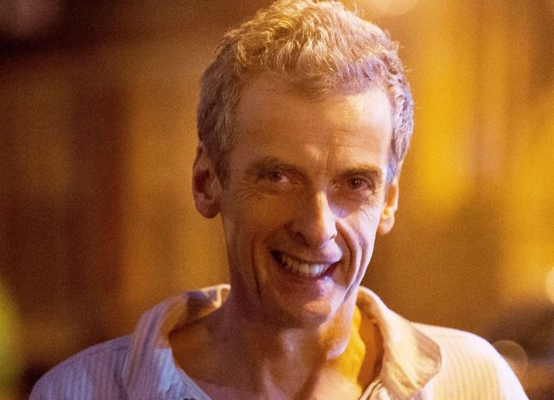 Peter Capaldi filming on location for Doctor Who in Cardiff