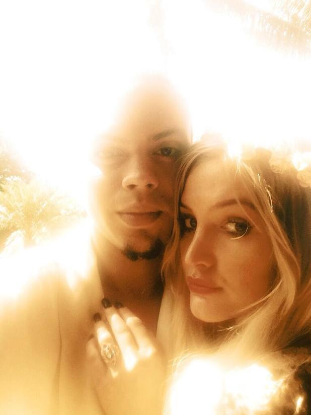 Evan Ross and Ashlee Simpson engagement ring