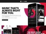 A screenshot of the Beats Music website