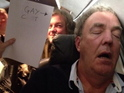 Top Gear presenter is photographed with offensive sign while asleep on a plane.