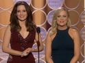 Tina Fey, Amy Poehler tackle George Clooney and Meryl Streep in their Globes intro.