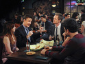 Jason Segel as Marshall, Neil Patrick Harris as Barney, Cobie Smulders as Robin & Josh Radnor as Ted in How I Met Your Mother: 'Slapsgiving 3: Slappointment in Slapmarra'