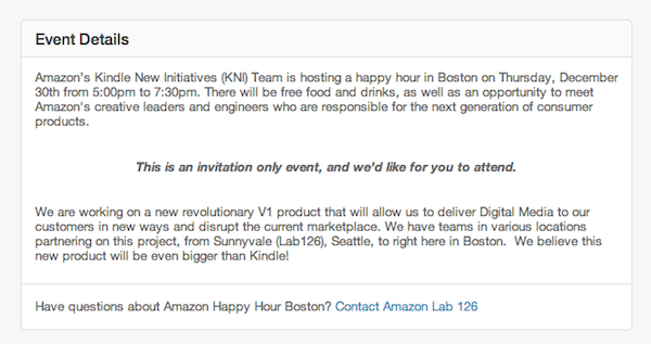 Amazon invitation