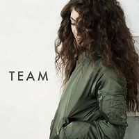 Lorde 'Team' single artwork.