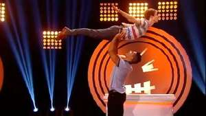 Louis Smith does 'Dirty Dancing' lift with Matt Edmonson on 'Fake Reaction'