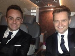 Ant and Dec travelling to NTAs 2014