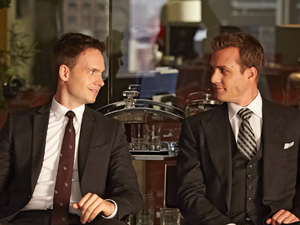 Patrick J Adams and Gabriel Macht in Suits