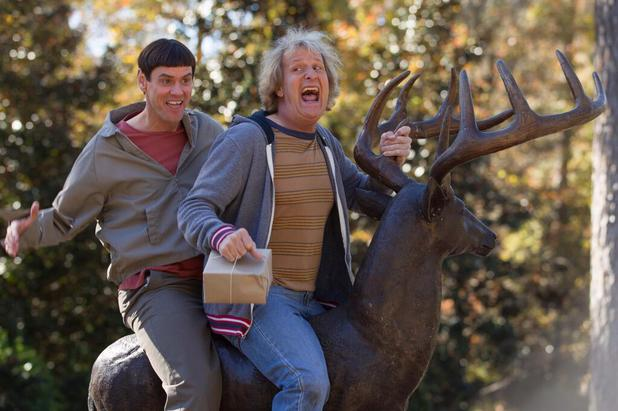 Jim Carrey as Lloyd and Jeff Daniels as Harry in Dumb and Dumber To