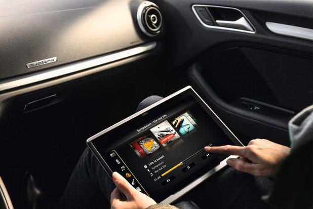 Audi's in car tablet