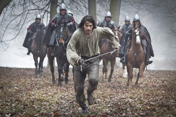 Luke Pasqualino as D'Artagnan in The Musketeers episode two