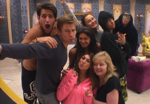 Housemates during the selfie task.