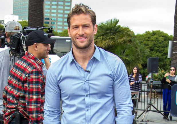 Juan Pablo Galavis on the 'Extra' TV programme set, Los Angeles