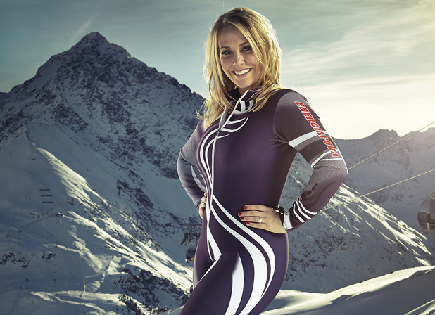 Laura Hamilton competes in The Jump