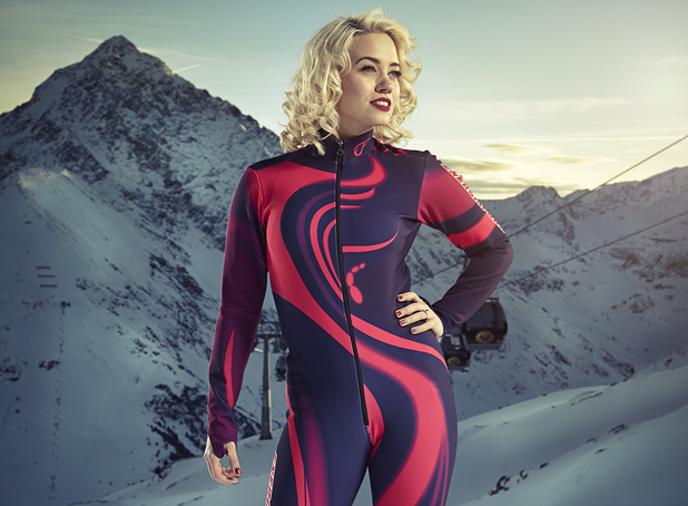 Kimberly Wyatt competes in The Jump