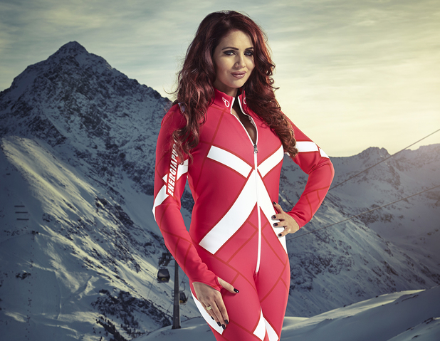 Amy Childs competes in The Jump