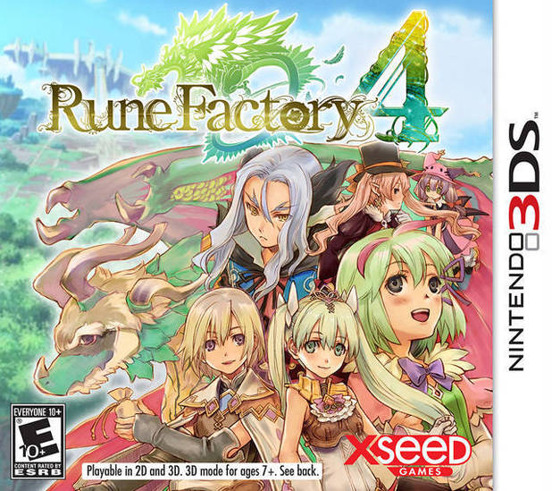 Rune Factory 4 3DS box art