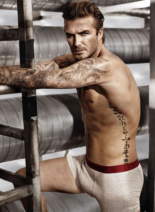 David Beckham poses for H&M