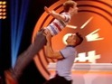 Louis Smith and Matt Edmondson perform the iconic lift on ITV2's Fake Reaction.