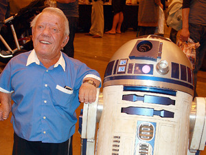 London Film and Comic Convention, Earls Court, London, Britain - 17 Jul 2010 Kenny Baker with R2-D2 17 Jul 2010
