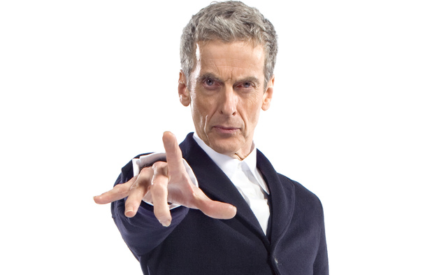 Peter Capaldi in costume as the Doctor - First Picture