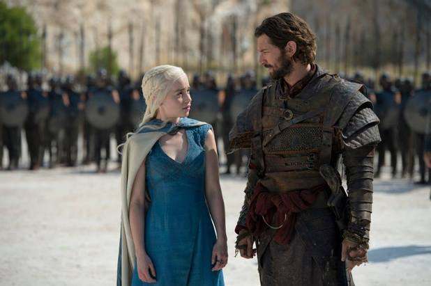 Game of Thrones season 4: first look -  Emilia Clarke and Michiel Huisman as Daenerys Targaryen and Daario Naharis