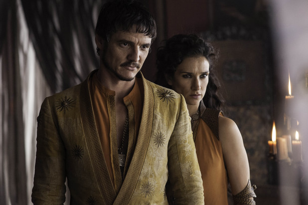 Game of Thrones season 4: first look -  Pedro Pascal and Idira Varma as Oberyn Martell and Ellaria Sand
