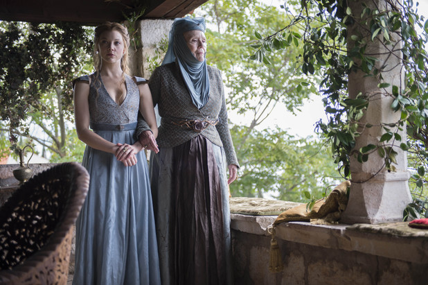 Game of Thrones season 4: first look -  Natalie Dormer and Diana Rigg as Margaery Tyrell and Olenna Tyrell