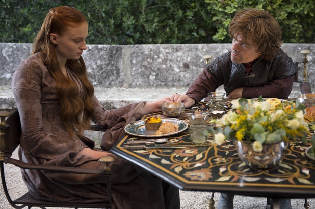 Game of Thrones season 4: first look -  Sophie Turner and Peter Dinklage as Sansa Stark and Tyrion Lannister