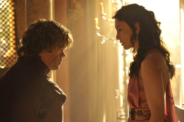 Game of Thrones season 4: first look -  Peter Dinklage and Sibel Kekilli as Tyrion Lannister and Shae
