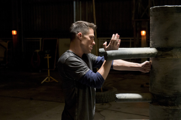 Colton Haynes as Roy Harper in 'Arrow' S02E12: 'Tremors'