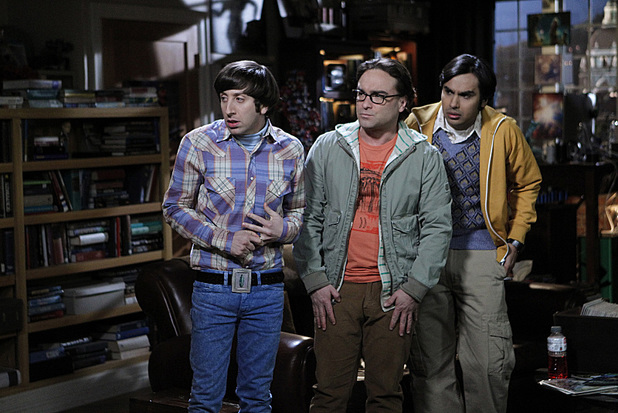 Johnny Galecki as Leonard, Simon Helberg as Howard and Kunal Nayyar as Raj in The Big Bang Theory: 'The Convention Conundrum'