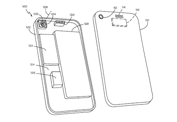 Apple attachable camera lens patent illustration