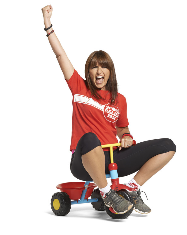 Davina McCall takes part in Sport Relief