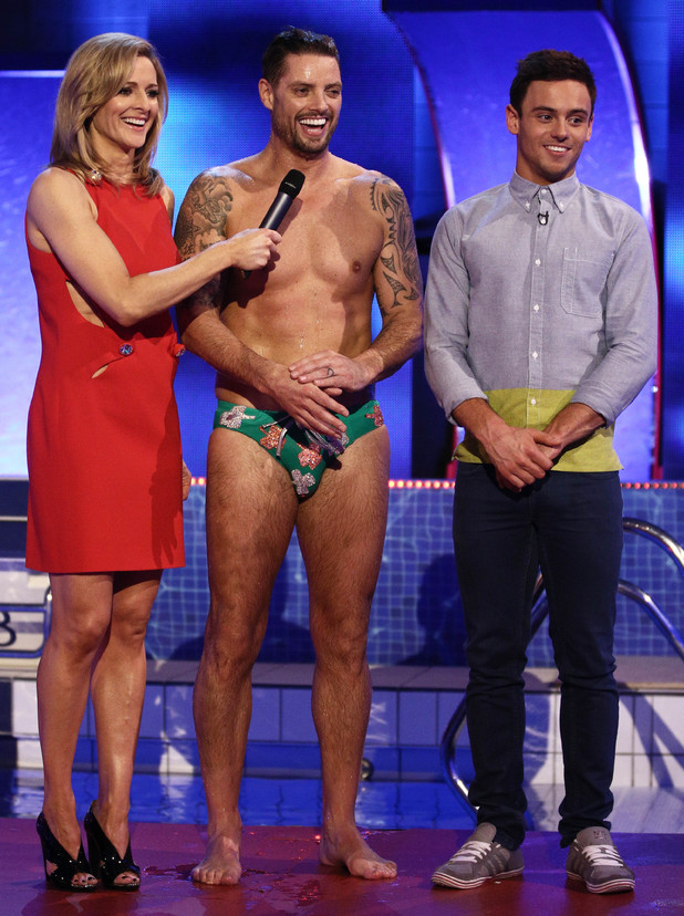 Gabby Logan, Keith Duffy and Tom Daley