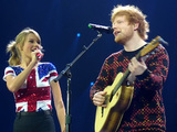 Taylor Swift during the UK leg of her 2014 tour (with Ed Sheeran)